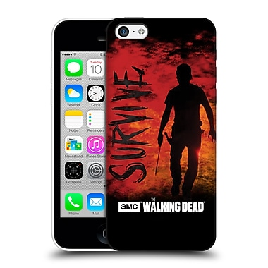 Official Amc The Walking Dead Typography Survive Rick Machete Hard Back Case For Apple Iphone 5C