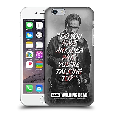 Official Amc The Walking Dead Quotes Rick Talk Hard Back Case For Apple Iphone 6 / 6S
