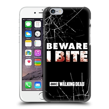 Official Amc The Walking Dead Typography I Bite Hard Back Case For Apple Iphone 6 / 6S