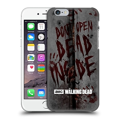 Official Amc The Walking Dead Typography Dead Inside Hard Back Case For Apple Iphone 6 / 6S