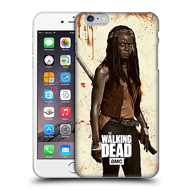 Official Amc The Walking Dead Distressed Illustrations Michonne Hard Back Case For Apple Iphone 6 Plus / 6S Plus