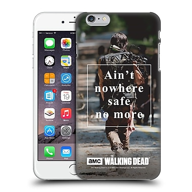 Official Amc The Walking Dead Quotes Daryl Nowhere Safe Hard Back Case For Apple Iphone 6 Plus / 6S Plus