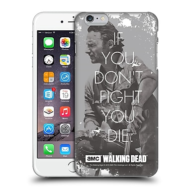 Official Amc The Walking Dead Quotes Rick Fight Hard Back Case For Apple Iphone 6 Plus / 6S Plus