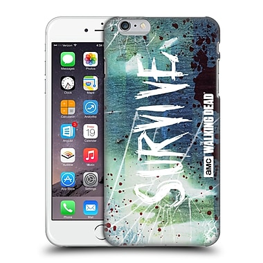 Official Amc The Walking Dead Typography Survive Torned Glass Hard Back Case For Apple Iphone 6 Plus / 6S Plus