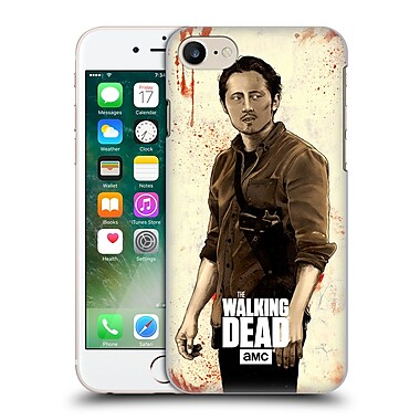 Official Amc The Walking Dead Distressed Illustrations Glenn Hard Back Case For Apple Iphone 7