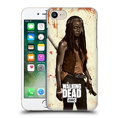 Official Amc The Walking Dead Distressed Illustrations Michonne Hard Back Case For Apple Iphone 7