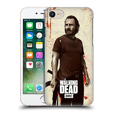 Official Amc The Walking Dead Distressed Illustrations Rick Hard Back Case For Apple Iphone 7