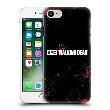 Official Amc The Walking Dead Logo Blood Black Hard Back Case For Apple Iphone 7