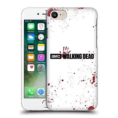 Official Amc The Walking Dead Logo Blood White Hard Back Case For Apple Iphone 7