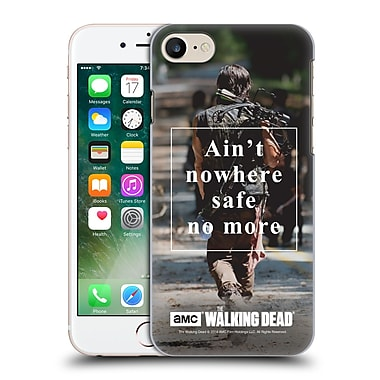 Official Amc The Walking Dead Quotes Daryl Nowhere Safe Hard Back Case For Apple Iphone 7