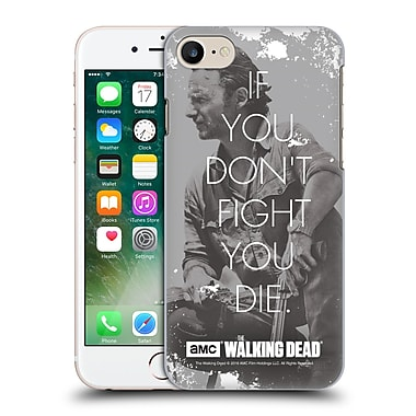 Official Amc The Walking Dead Quotes Rick Fight Hard Back Case For Apple Iphone 7