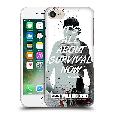 Official Amc The Walking Dead Quotes Rick Survival Hard Back Case For Apple Iphone 7