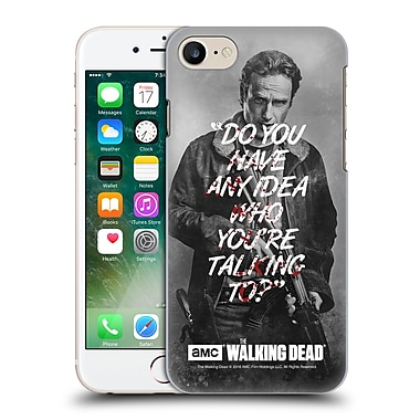 Official Amc The Walking Dead Quotes Rick Talk Hard Back Case For Apple Iphone 7