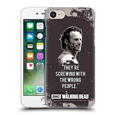 Official Amc The Walking Dead Quotes Rick Trap Hard Back Case For Apple Iphone 7