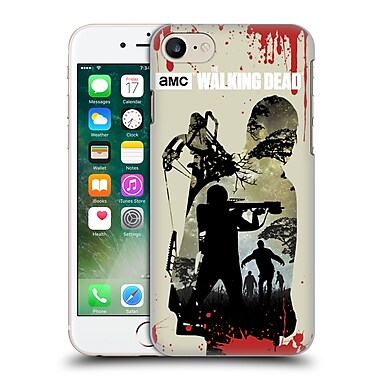 Official Amc The Walking Dead Silhouettes Daryl Full Hard Back Case For Apple Iphone 7