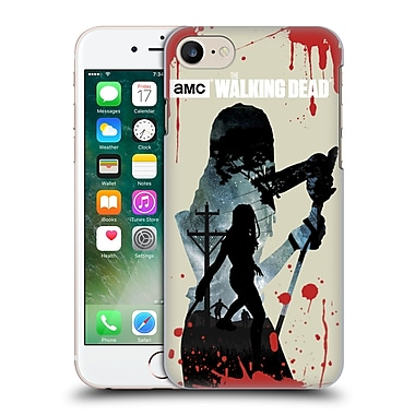 Official Amc The Walking Dead Silhouettes Michonne Hard Back Case For Apple Iphone 7