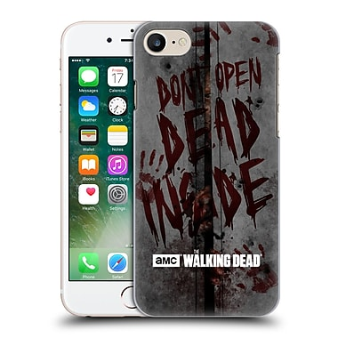 Official Amc The Walking Dead Typography Dead Inside Hard Back Case For Apple Iphone 7