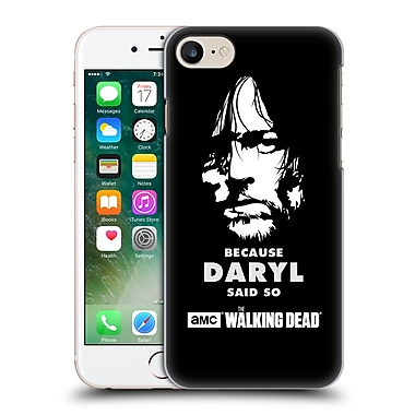 Official Amc The Walking Dead Typography Daryl Says Hard Back Case For Apple Iphone 7