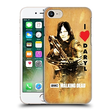 Official Amc The Walking Dead Typography Love Daryl Crossbow Hard Back Case For Apple Iphone 7