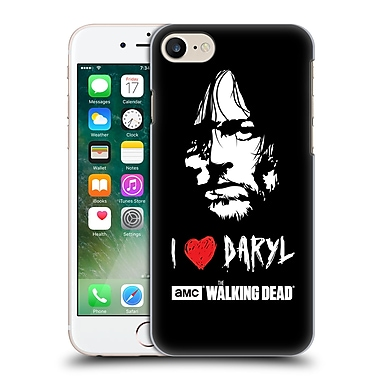 Official Amc The Walking Dead Typography Love Daryl Face Hard Back Case For Apple Iphone 7