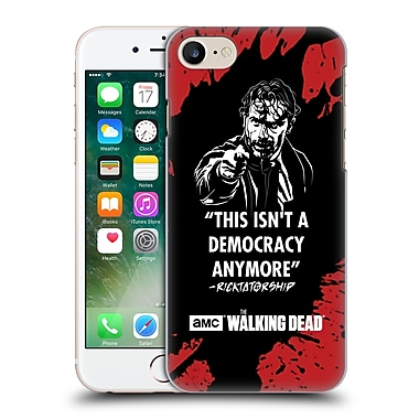 Official Amc The Walking Dead Typography Ricktatorship Hard Back Case For Apple Iphone 7