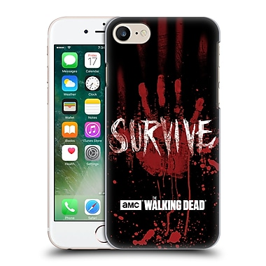 Official Amc The Walking Dead Typography Survive Hand Hard Back Case For Apple Iphone 7