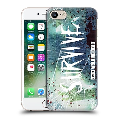Official Amc The Walking Dead Typography Survive Torned Glass Hard Back Case For Apple Iphone 7
