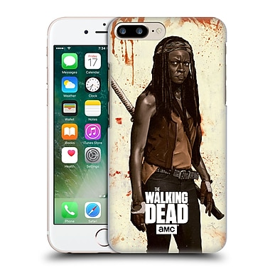 Official Amc The Walking Dead Distressed Illustrations Michonne Hard Back Case For Apple Iphone 7 Plus