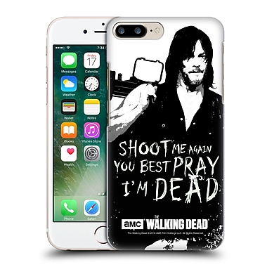 Official Amc The Walking Dead Quotes Daryl Shoot Hard Back Case For Apple Iphone 7 Plus