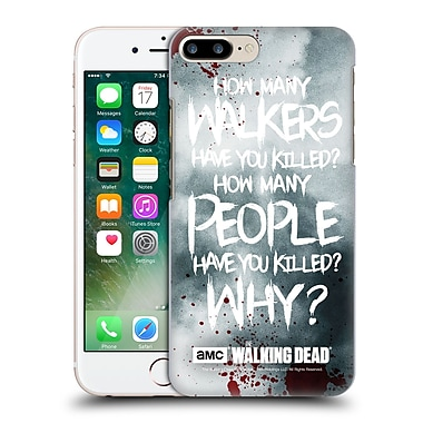 Official Amc The Walking Dead Quotes Rick Questions Hard Back Case For Apple Iphone 7 Plus