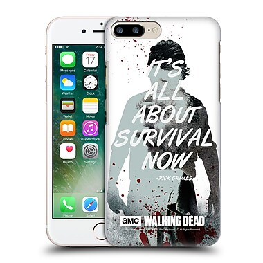 Official Amc The Walking Dead Quotes Rick Survival Hard Back Case For Apple Iphone 7 Plus