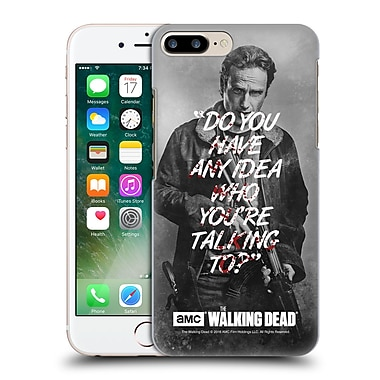 Official Amc The Walking Dead Quotes Rick Talk Hard Back Case For Apple Iphone 7 Plus