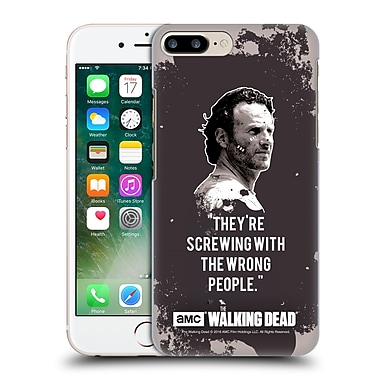 Official Amc The Walking Dead Quotes Rick Trap Hard Back Case For Apple Iphone 7 Plus