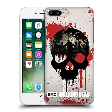 Official Amc The Walking Dead Silhouettes Skull Hard Back Case For Apple Iphone 7 Plus