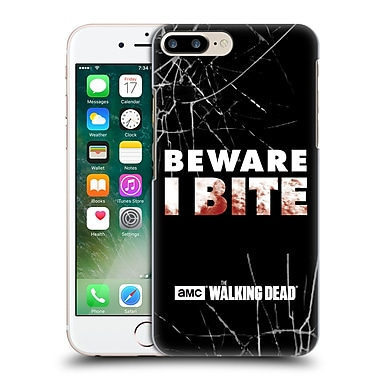 Official Amc The Walking Dead Typography I Bite Hard Back Case For Apple Iphone 7 Plus