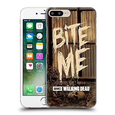 Official Amc The Walking Dead Typography Bite Me Hard Back Case For Apple Iphone 7 Plus