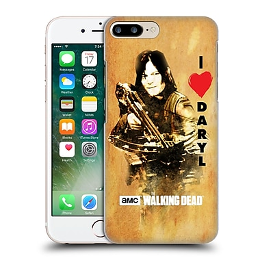 Official Amc The Walking Dead Typography Love Daryl Crossbow Hard Back Case For Apple Iphone 7 Plus