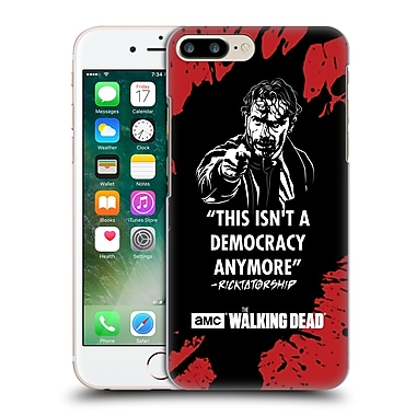 Official Amc The Walking Dead Typography Ricktatorship Hard Back Case For Apple Iphone 7 Plus