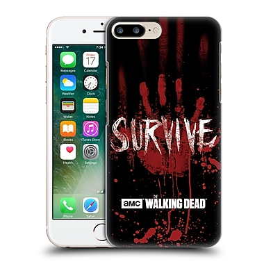 Official Amc The Walking Dead Typography Survive Hand Hard Back Case For Apple Iphone 7 Plus