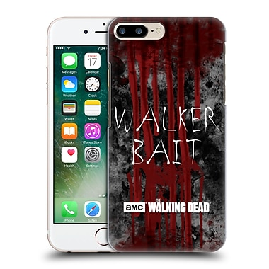 Official Amc The Walking Dead Typography Walker Bait Hard Back Case For Apple Iphone 7 Plus