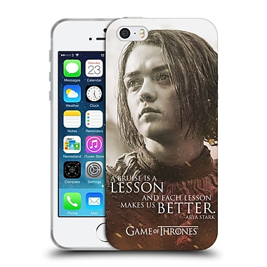 Official Hbo Game Of Thrones Character Portraits Arya Stark Soft Gel Case For Apple Iphone 5 / 5S / Se