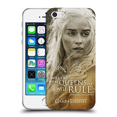 Official Hbo Game Of Thrones Character Portraits Daenerys Targaryen Soft Gel Case For Apple Iphone 5 / 5S / Se