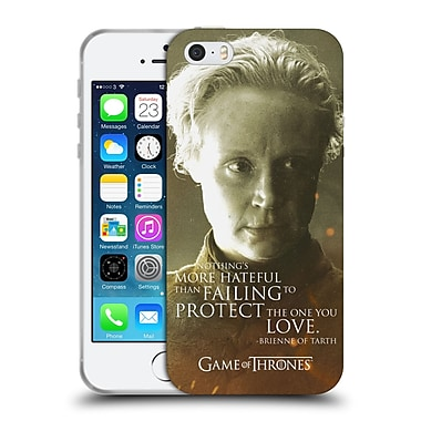 Official Hbo Game Of Thrones Character Portraits Brienne Of Tarth Soft Gel Case For Apple Iphone 5 / 5S / Se