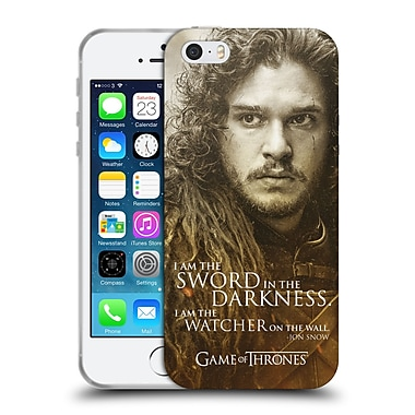 Official Hbo Game Of Thrones Character Portraits Jon Snow Soft Gel Case For Apple Iphone 5 / 5S / Se