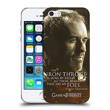 Official Hbo Game Of Thrones Character Portraits Stannis Baratheon Soft Gel Case For Apple Iphone 5 / 5S / Se