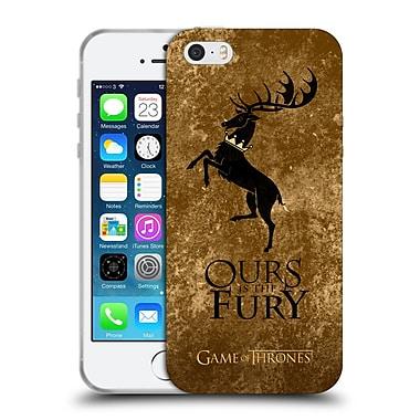 Official Hbo Game Of Thrones Dark Distressed Sigils Baratheon Soft Gel Case For Apple Iphone 5 / 5S / Se