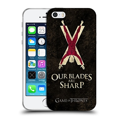 Official Hbo Game Of Thrones Dark Distressed Sigils Bolton Soft Gel Case For Apple Iphone 5 / 5S / Se