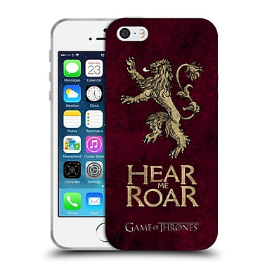 Official Hbo Game Of Thrones Dark Distressed Sigils Lannister Soft Gel Case For Apple Iphone 5 / 5S / Se