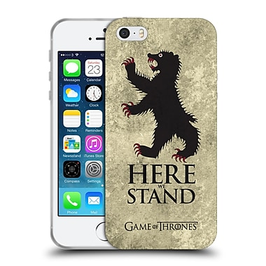 Official Hbo Game Of Thrones Dark Distressed Sigils Mormont Soft Gel Case For Apple Iphone 5 / 5S / Se