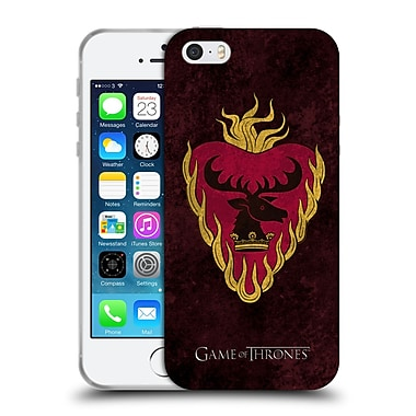 Official Hbo Game Of Thrones Dark Distressed Sigils Stannis Soft Gel Case For Apple Iphone 5 / 5S / Se